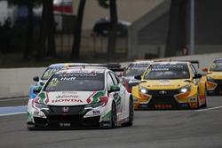 Start action, Rob Huff, Honda Racing Team JAS, Honda Civic WTCC führt