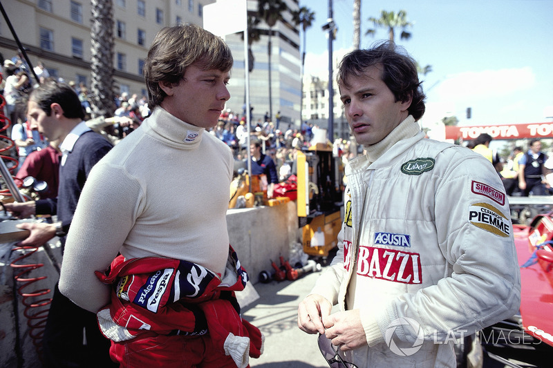 1982 - Didier Pironi et Gilles Villeneuve, tous deux pilotes Ferrari