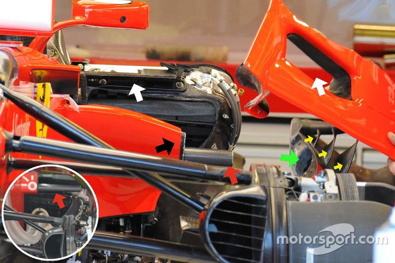 Ferrari SF70H sidepod inlet