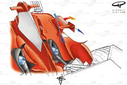 Ferrari F2004 sidepod chimnies (hot air escape)