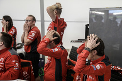 Citroën World Rally Team members react to Meeke's car park excursion