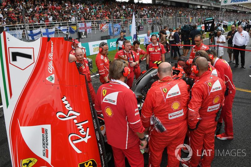 Механіки Ferrari, Ferrari SF70H Кімі Райкконена