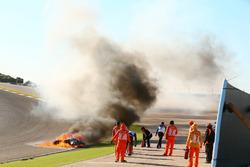 Crash, Tom Sykes, Kawasaki Racing
