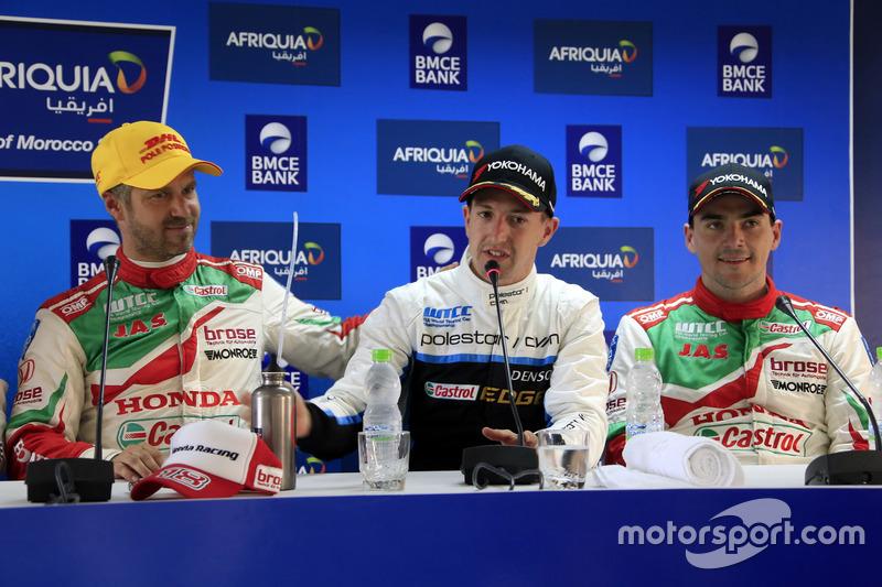 Tiago Monteiro, Honda Racing Team JAS, Honda Civic WTCC, Nestor Girolami, Polestar Cyan Racing, Volv
