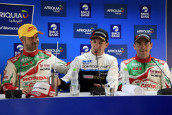 Tiago Monteiro, Honda Racing Team JAS, Honda Civic WTCC, Nestor Girolami, Polestar Cyan Racing, Volvo S60 Polestar TC1, Norbert Michelisz, Honda Racing Team JAS, Honda Civic WTCC at the Press Conference