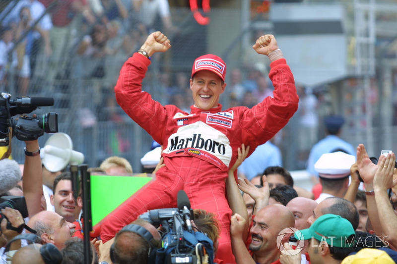 15. 2001 - Michael Schumacher, Ferrari (72,4%)