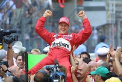 Race winner Michael Schumacher, Ferrari F2001