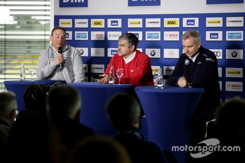 Ullrich Fritz, Team principal Mercedes-AMG HWA, Dieter Gass, Head of DTM Audi Sport, Jens Marquardt, BMW Motorsport Director