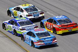 Michael McDowell, Leavine Family Racing Chevrolet,Ty Dillon, Germain Racing Chevrolet, Aric Almirola, Richard Petty Motorsports Ford, David Ragan, Front Row Motorsports Ford