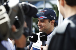 Felipe Massa, Williams, speaks to the media