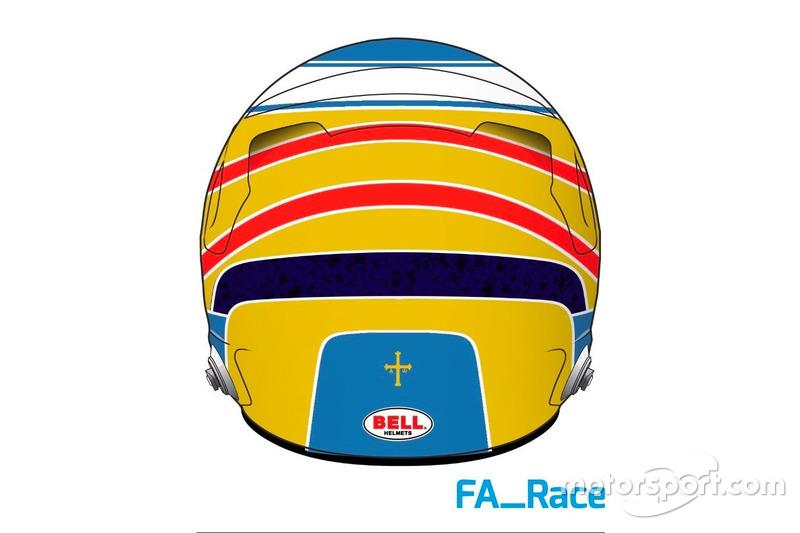 F1 Noticias de última hora Alonso muestra más pistas de su casco para 2017