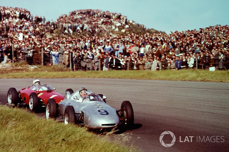 Hans Herrmann, Porsche 718 ve Phil Hill, Ferrari Dino 156