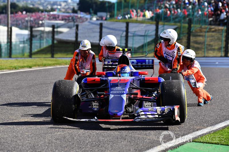 El coche de Carlos Sainz Jr., Scuderia Toro Rosso STR12