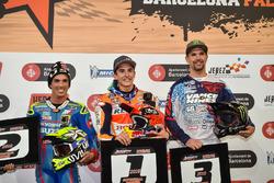 Podium: Race winner Marc Marquez; second place Toni Elias; third place Brad Baker