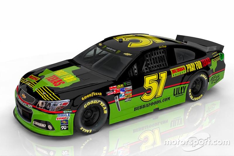 Throwback-Design: Cody Ware, Rick Ware Racing Chevrolet