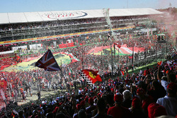 Podium celebration atmosphere