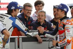 Обладатель поула Марк Маркес, Repsol Honda Team, второе место - Карел Абрагам, Aspar Racing Team
