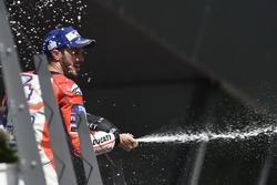 Andrea Dovizioso, Ducati Team, sur le podium