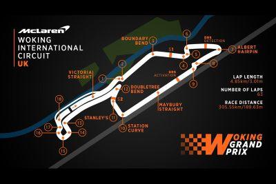 Woking International Circuit, mappa della pista