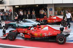 Себастьян Феттель, Ferrari SF70H, Валттери Боттас, Mercedes AMG F1 F1 W08, Кими Райкконен, Ferrari SF70H