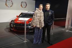 Yvan Muller and wife Severine