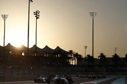 Felipe Massa, Williams FW38, leads Valtteri Bottas, Williams FW38