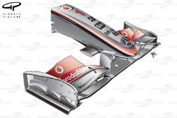 McLaren MP4-24 2009 front wing and nose
