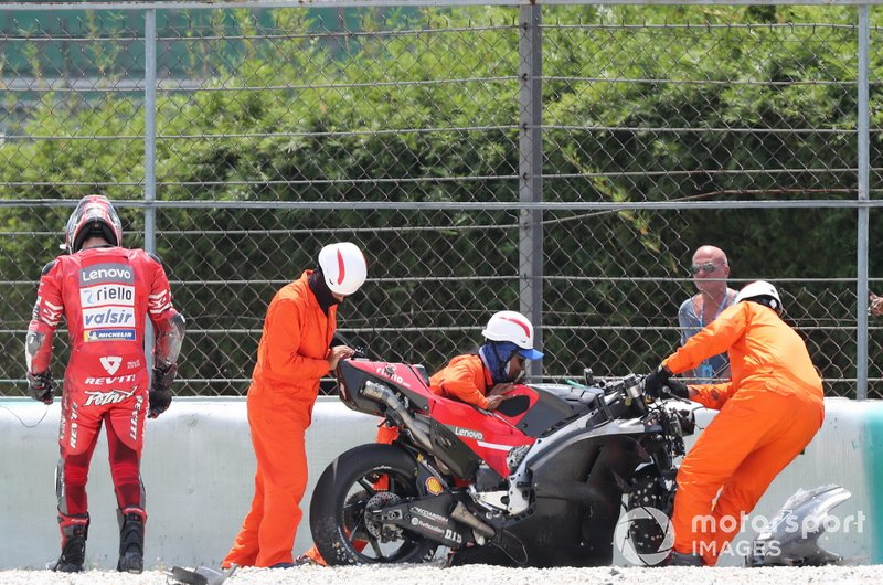 Danilo Petrucci, Ducati Team after crash