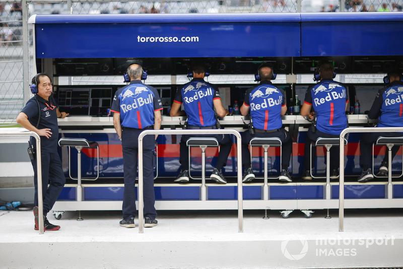 Scuderia Toro Rosso pit wall