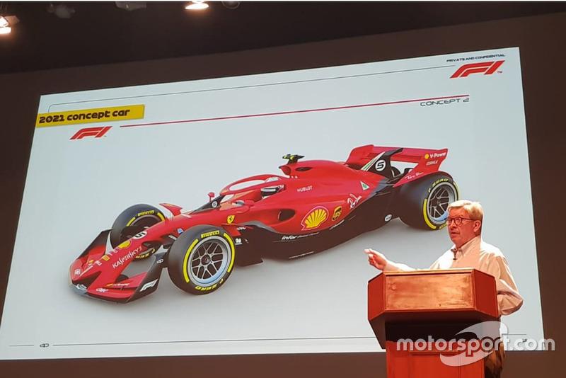 Ross Brawn con la historia conceptual de la F1 2021