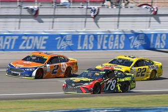 Brad Keselowski, Team Penske, Ford Fusion Autotrader, Martin Truex Jr., Furniture Row Racing, Toyota Camry 5-hour ENERGY and Joey Logano, Team Penske, Ford Fusion Shell Pennzoil