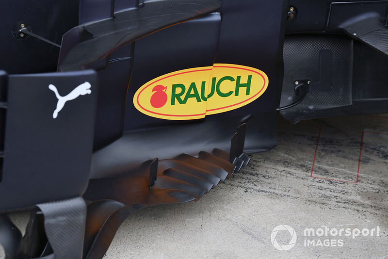 Detalle del bargeboard del Red Bull Racing RB14