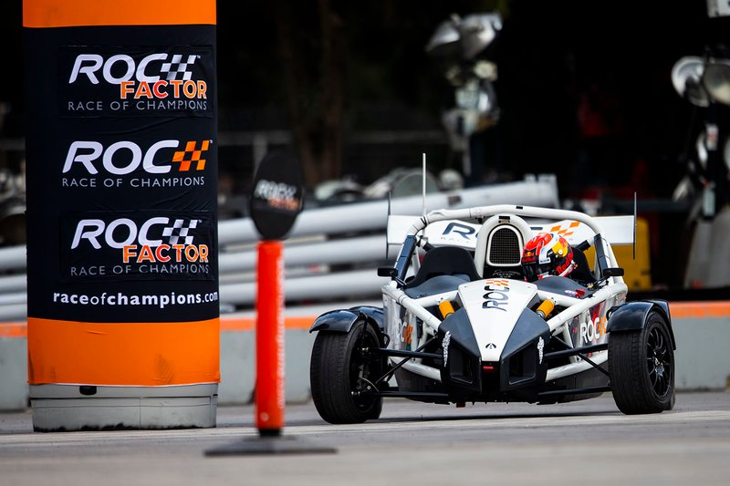 Pierre Gasly takes part in the ROC Skills Challenge