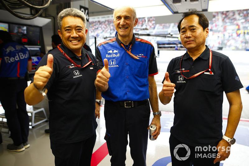 Franz Tost, Team Principal, Toro Rosso, Toyoharu Tanabe, F1 Technical Director, Honda