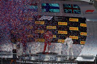 Celebrazione del podio