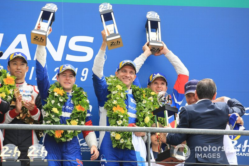 Third place #11 SMP Racing BR Engineering BR1: Mikhail Aleshin, Vitaly Petrov, Stoffel Vandoorne