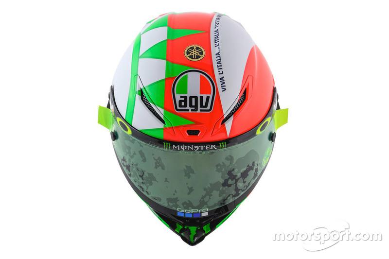 Il casco di Valentino Rossi, Yamaha Factory Racing