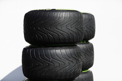 Pirelli tyres in the paddock