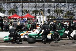 Rene Binder, Juncos Racing Chevrolet, pitstop