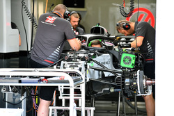 Haas F1 Team VF-18 in the garage