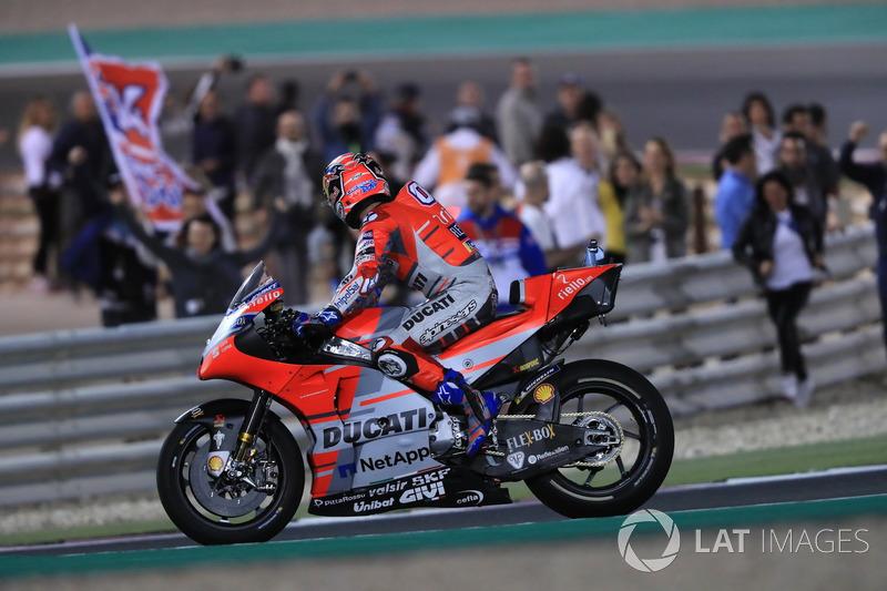 MotoGP Qatar: Andrea Dovizioso, Ducati Team
