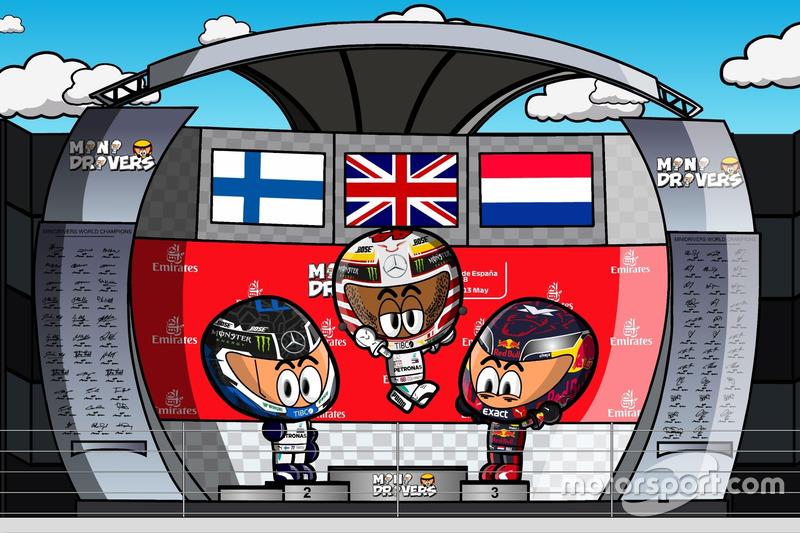 El podio del GP de España 2018, por 'MiniDrivers'