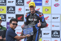Podium SS600: Posisi kedua Anthony West, Webike IKAZUCHI Racing