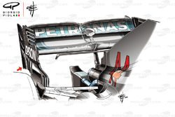 Mercedes AMG F1 rear wing end plates
