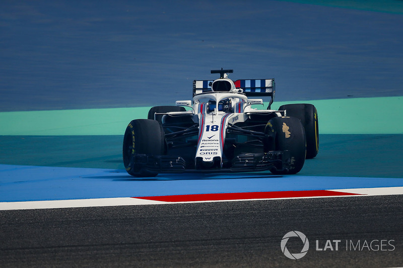 Lance Stroll, Williams FW41 en tête-à-queue