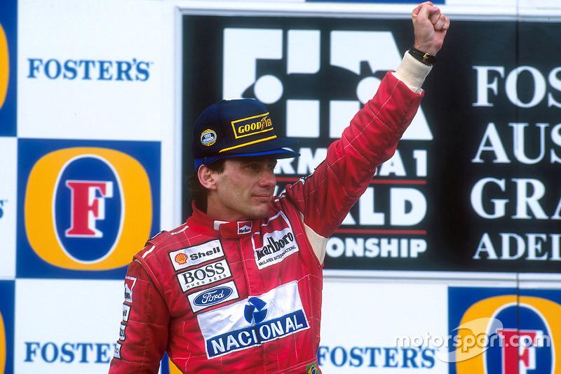 Für Senna ist es der 41. und letzte Sieg. 1994 wird ihm zum Schicksal...