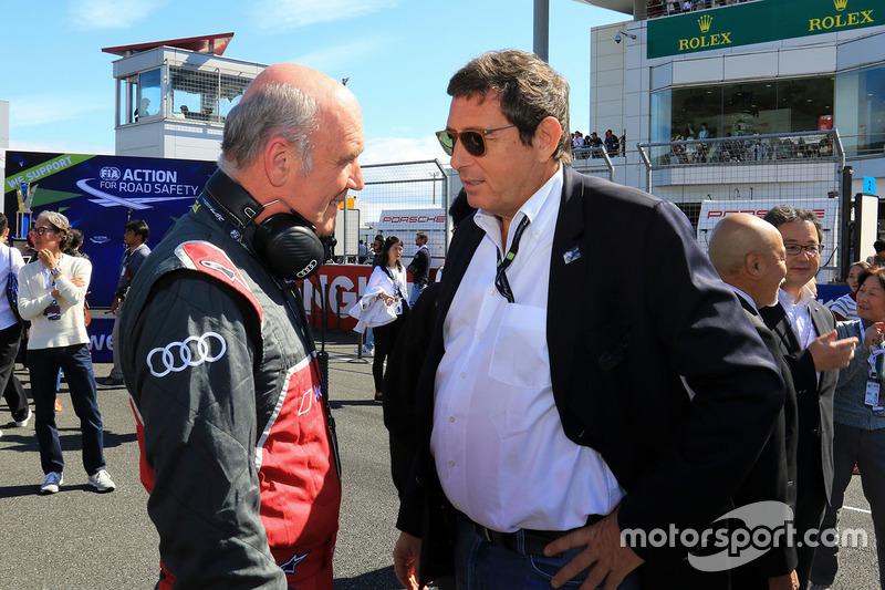 الدكتور فولفغانغ أولريخ، رئيس أودي موتورسبورت وجيرار نيفو، رئيس بطولة العالم لسباقات التحمل