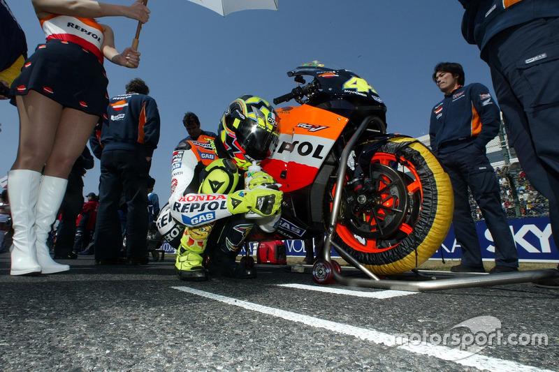 Valentino Rossi, Repsol Honda Team en la parrilla