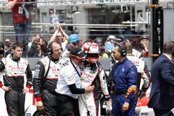 #5 Toyota Racing Toyota TS050 Hybrid: Kazuki Nakajima with Rob Leuben, Toyota Motorsport after the c