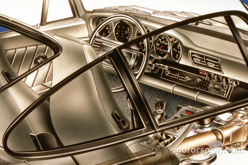 Porsche 959 cutaway - steering wheel detail